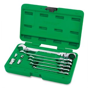 10PCS Pro-Series Flexible Ratchet Combination Wrench Set