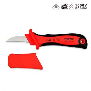 VDE Insulated Cable Knife with Straight Blade
