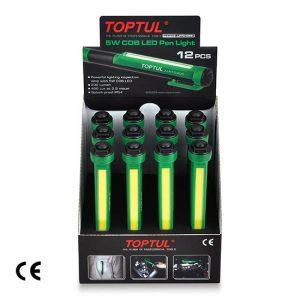 12PCS 5W COB LED Pen Light Set W/Display Box