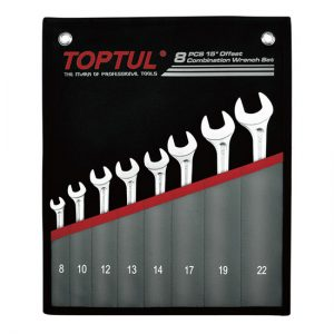 15° Offset Hi-Performance Combination Wrench Set - POUCH BAG - METRIC