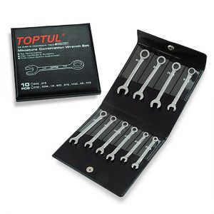 10PCS Miniature Combination Wrench Set - SAE (Mirror Polished)