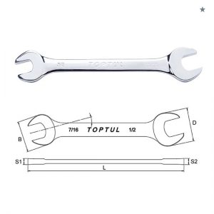Double Open End Wrench - SAE (Mirror Polished)