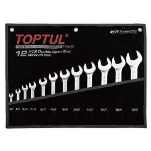 Double Open End Wrench Set - POUCH BAG - BLACK