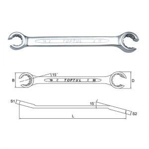 12PT - Flare Nut Wrench - METRIC (Satin Chrome Finished)